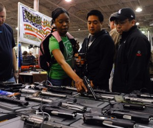 Mark Bailey of Bailey's Gun Supplies at The Nation's Gun Show at the Dulles Expo Center