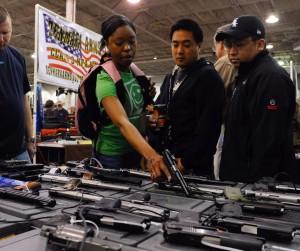 Mark Bailey of Bailey's Gun Supplies at The Nation's Gun Show at the Dulles Expo Center